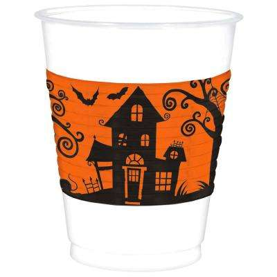 4.5 in. x 3.75 in. White Halloween Frightfully Fancy Cups (25-Count, 2-Pack)