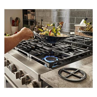 36 in. 5.1 cu. ft. Smart Dual Fuel Range with True Convection and Self- Cleaning in Stainless Steel