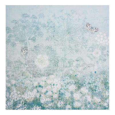 """28 in. x 28 in. """"Spring Floral"""" Printed Canvas Wall Art"""