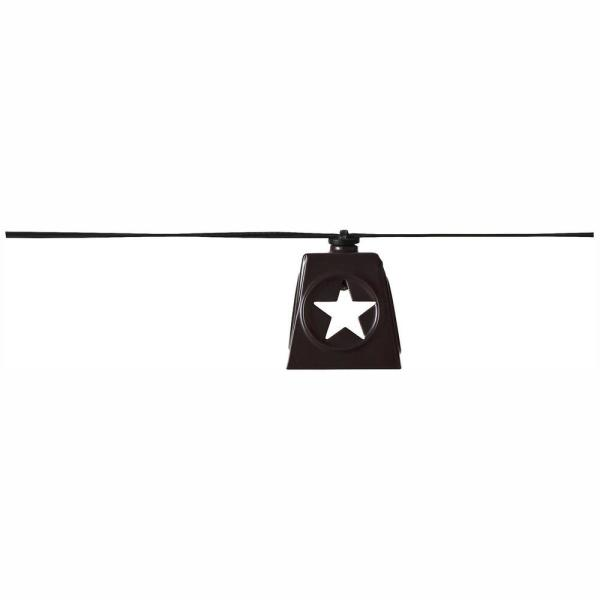 Solar 10-Light 150 in.  Integrated LED String Light with Lone Star Shade