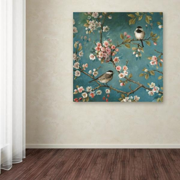 Trademark Fine Art 24 In X 24 In Blossom I Crop By Lisa Audit Printed Canvas Wall Art Wap00636 C2424gg The Home Depot