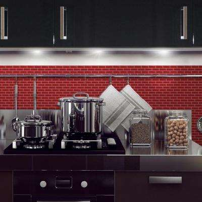 Murano Cosmo 10.20 in. W x 9.10 in. H Peel and Stick Decorative Mosaic Wall Tile Backsplash (6-Pack)