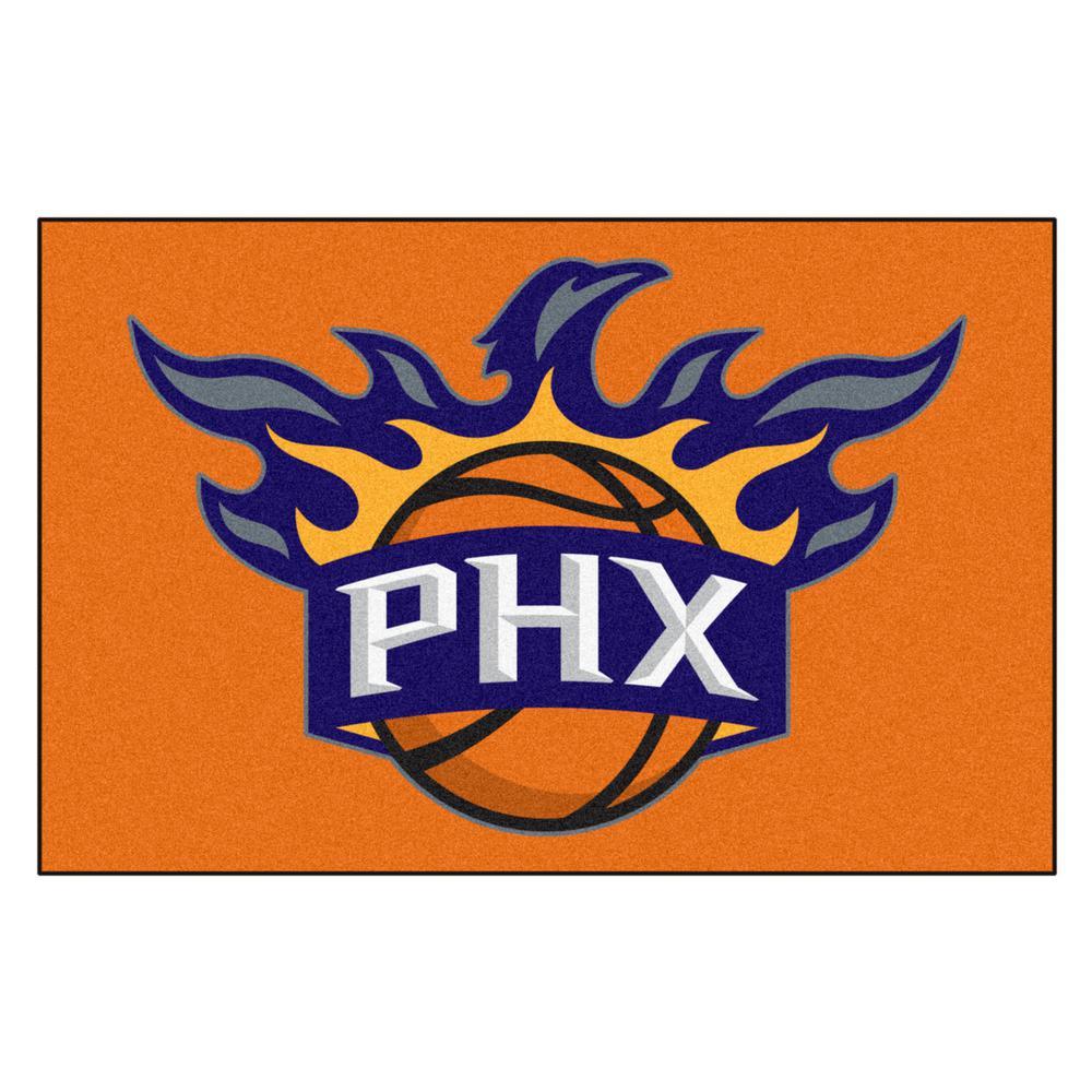 NBA Phoenix Suns Orange 2 ft. x 3 ft. Area Rug