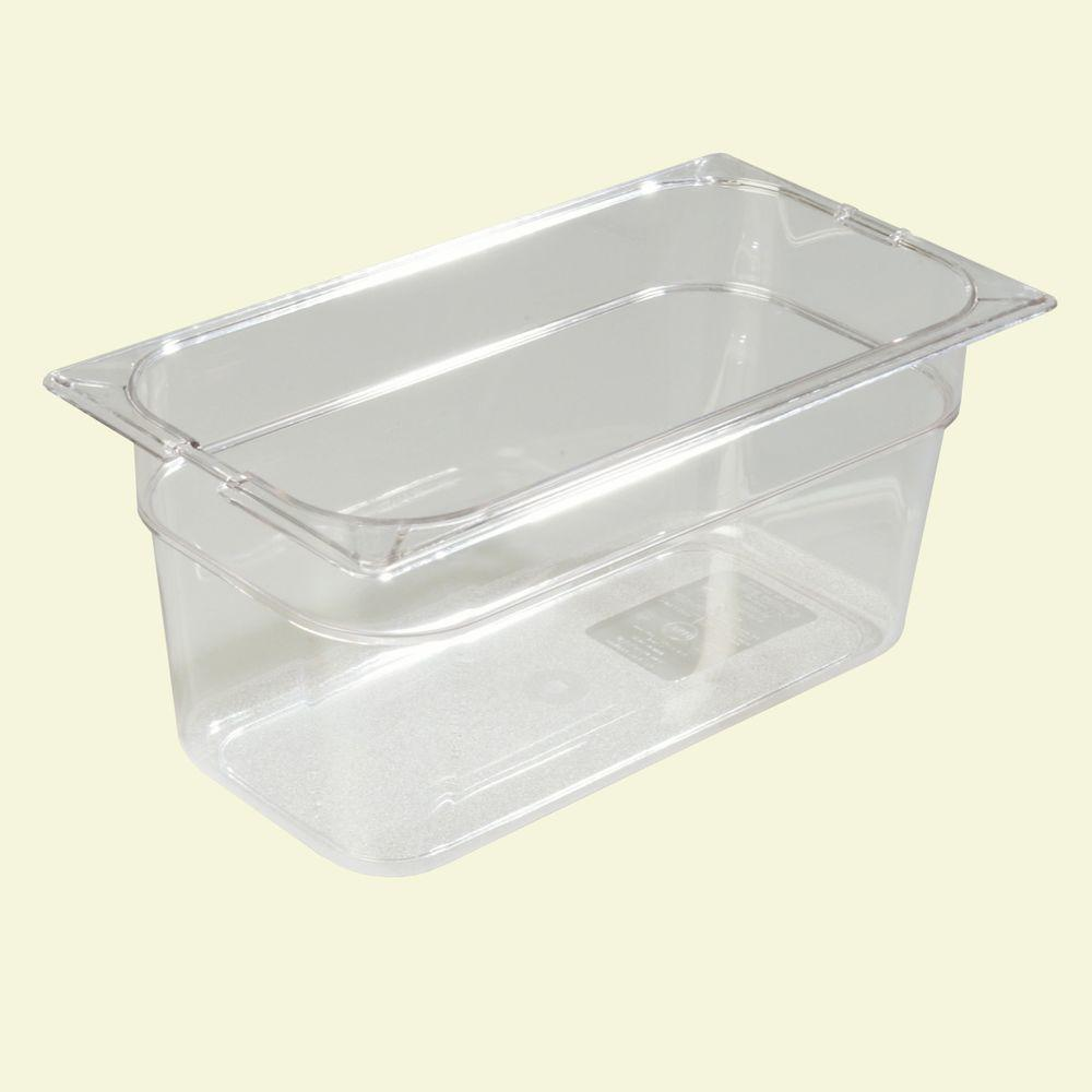 1/3 Size, 5.70 qt., 6 in. D Polycarbonate Food Pan in