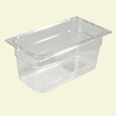 1/3 Size, 5.70 qt., 6 in. D Polycarbonate Food Pan in Clear, Lid not Included (Case of 6)