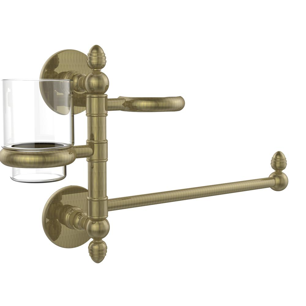 Prestige Skyline Collection Hair Dryer Holder and Organizer in Antique Brass
