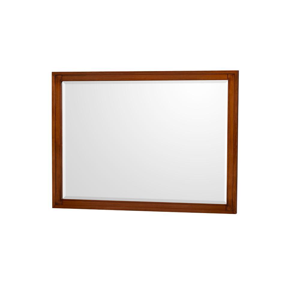 Hatton 44 in. W x 33 in. H Framed Wall Mirror in Light Chestnut