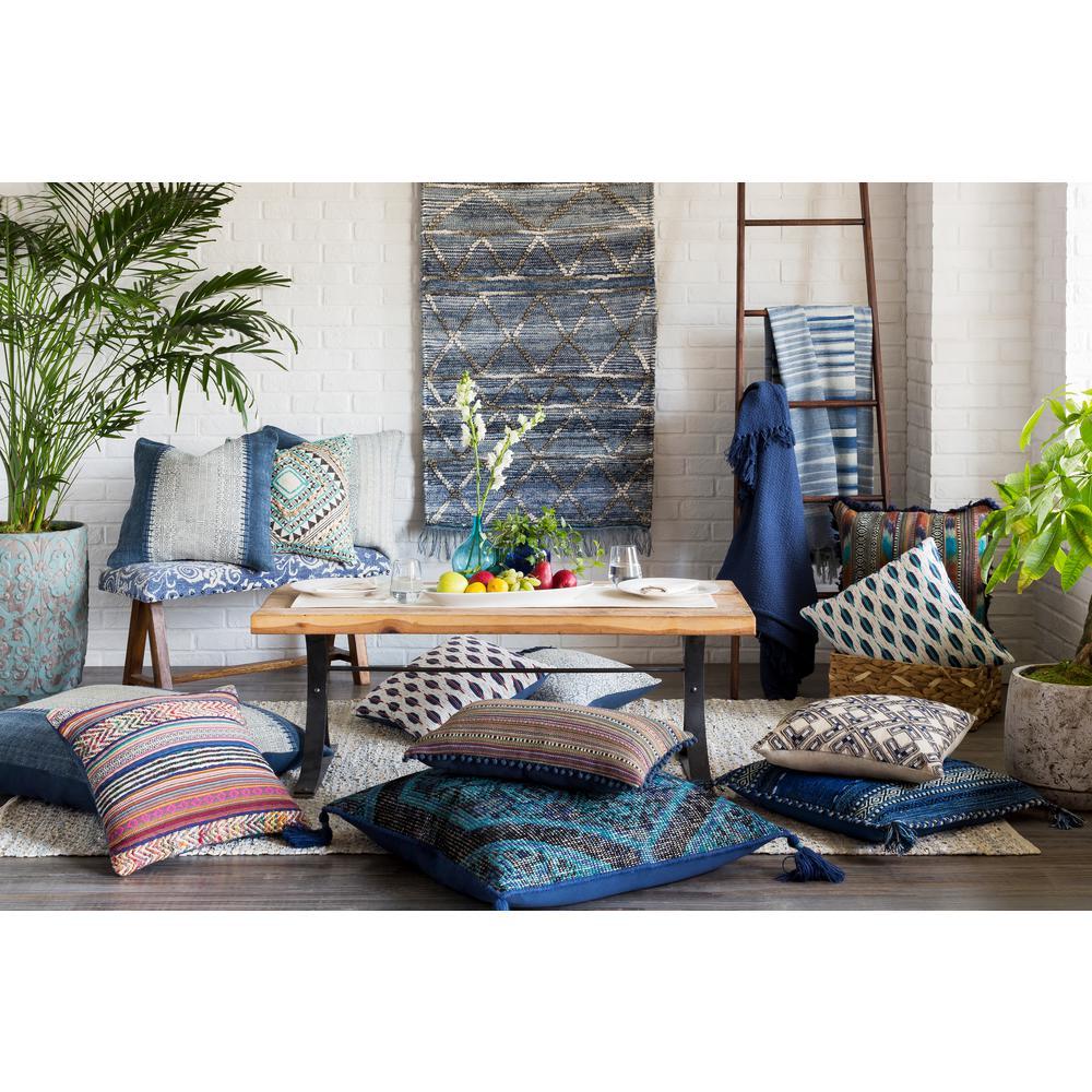 Obelu 30 in. x 60 in. Blue Tapestry