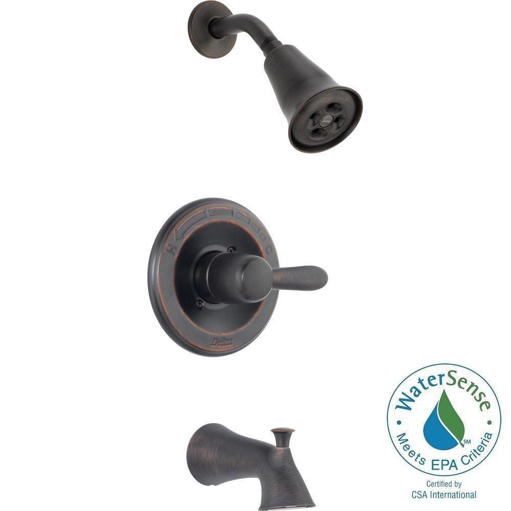 Lahara 1-Handle 1-Spray Tub and Shower Faucet Trim Kit in Venetian