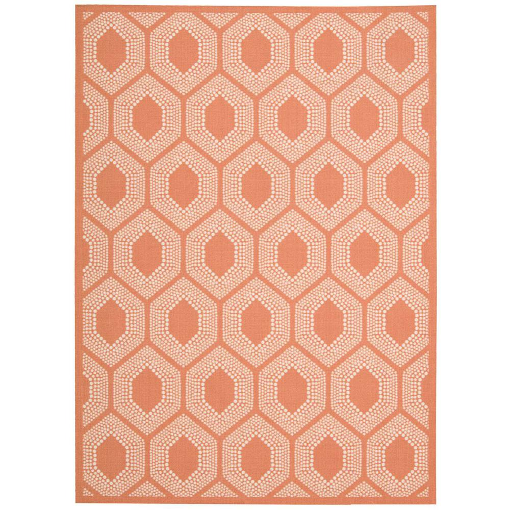 Waverly Bubbly Tangerine 5 Ft X 7 Ft Indoor Outdoor Area Rug