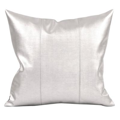 Luxe Metallics Solid Polyester 2 in. x 20 in. Throw Pillow