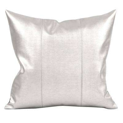 Luxe Metallic Mercury 20 in. x 20 in. Decorative Pillow
