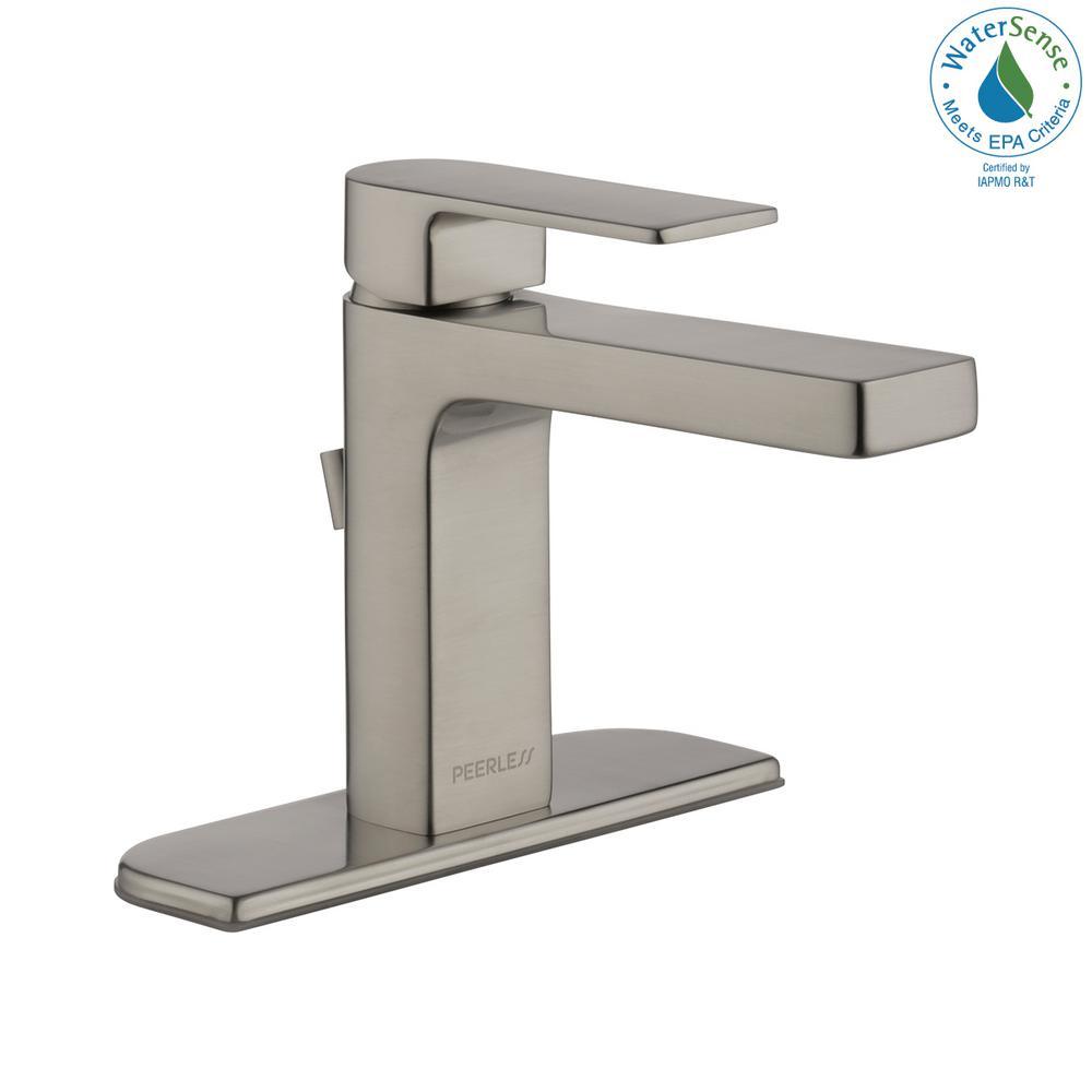 Xander 4 in. Centerset Single-Handle Bathroom Faucet in Brushed Nickel
