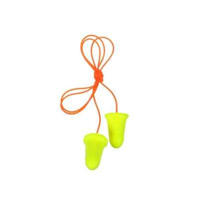 E-A-Rsoft Yellow Earplugs, Corded, Poly Bag - NRR 33 dB (Case of 2000 pairs)