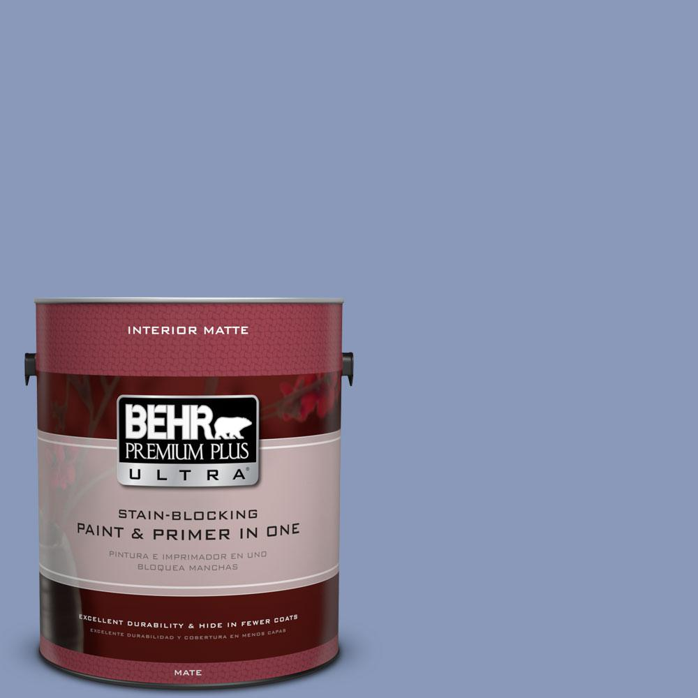 1 gal. #610D-5 Blueberry Popover Flat/Matte Interior Paint