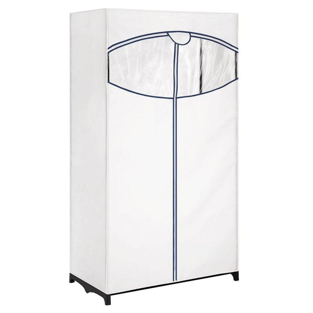 Whitmor 36 In Wide White Clothes Closet With Outer Cover 6822 150