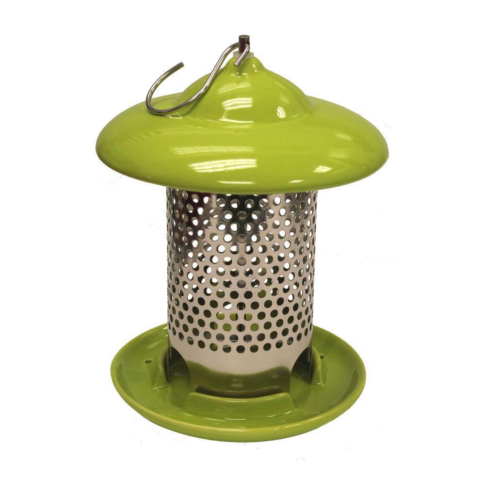 Bird Stop Green Ceramic Wild Bird Feeder