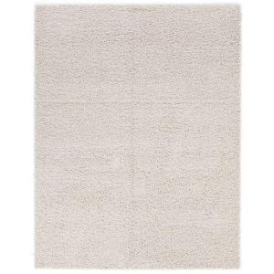 cozy shag collection cream 5 ft x 7 ft indoor area rug