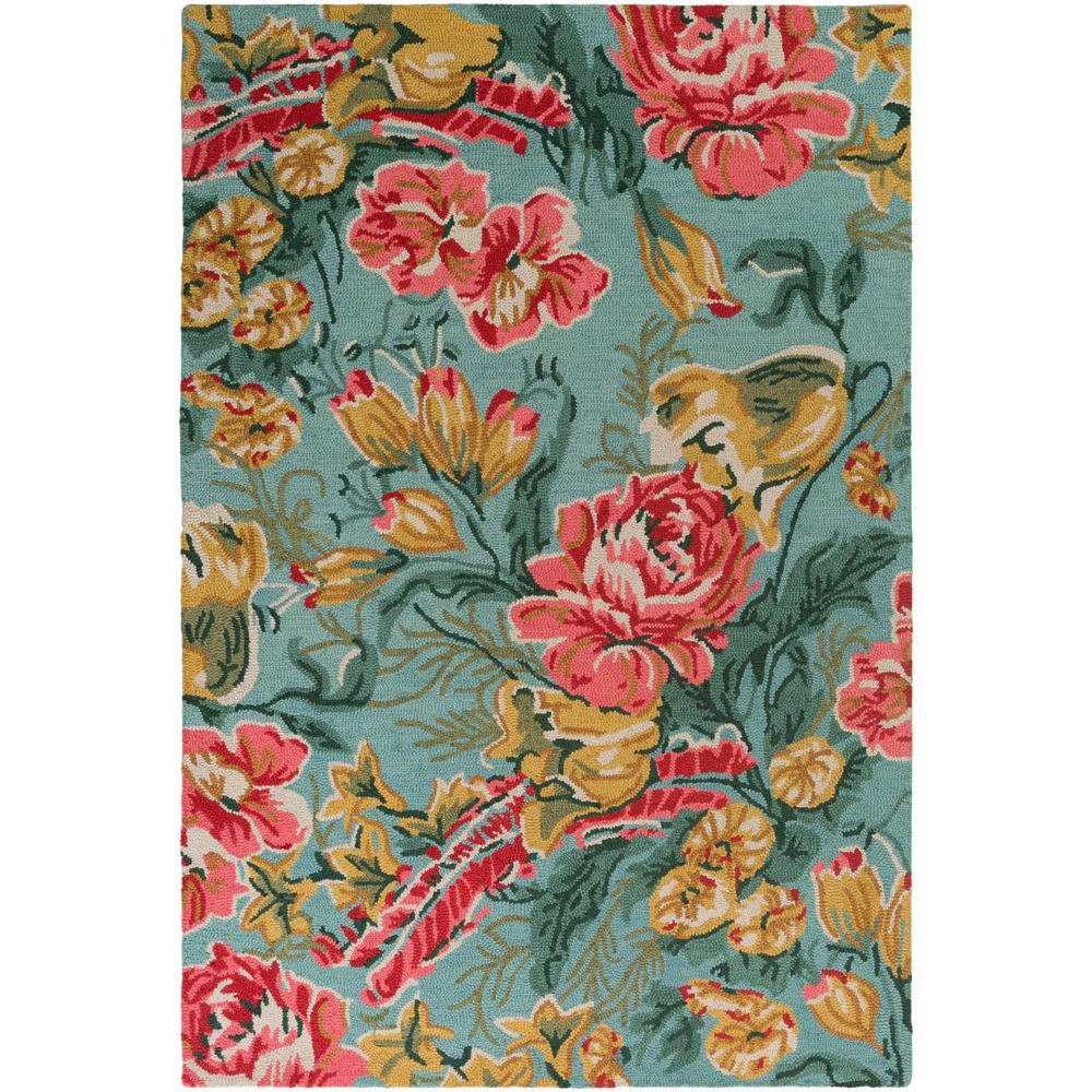 Botany Paisley Mint 8 ft. x 10 ft. Indoor Area Rug