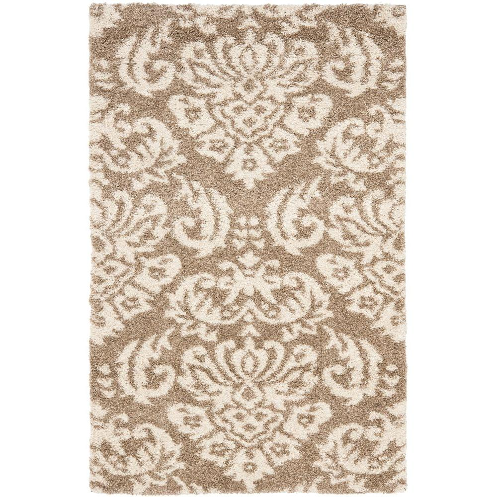 Florida Shag Beige/Cream 11 Ft. X 15 Ft. Area Rug