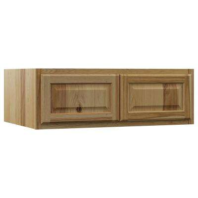Hampton Assembled 36x12x24 in. Above Refrigerator Deep Wall Bridge Kitchen Cabinet in Natural Hickory
