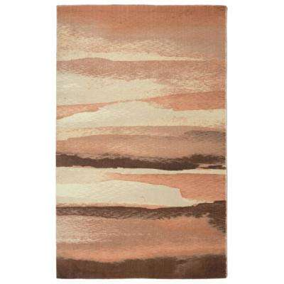 Sand Contemporary Modern Blush 3 ft. x 5 ft. Area Rug