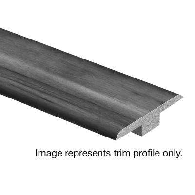 Strand Woven Bamboo Warm Grey 3/8 in. Thick x 1-3/4 in. Wide x 94 in. Length Hardwood T-Molding