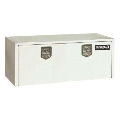 24 in. White Steel Underbody Tool Box with T-Handle Latch