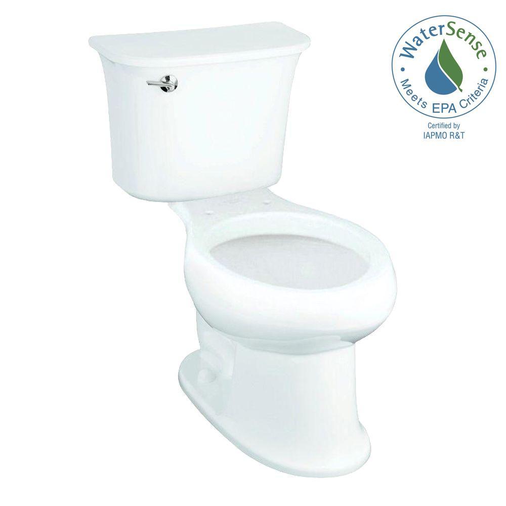 STERLING Stinson 2-piece 1.28 GPF Single Flush Elongated Toilet in White