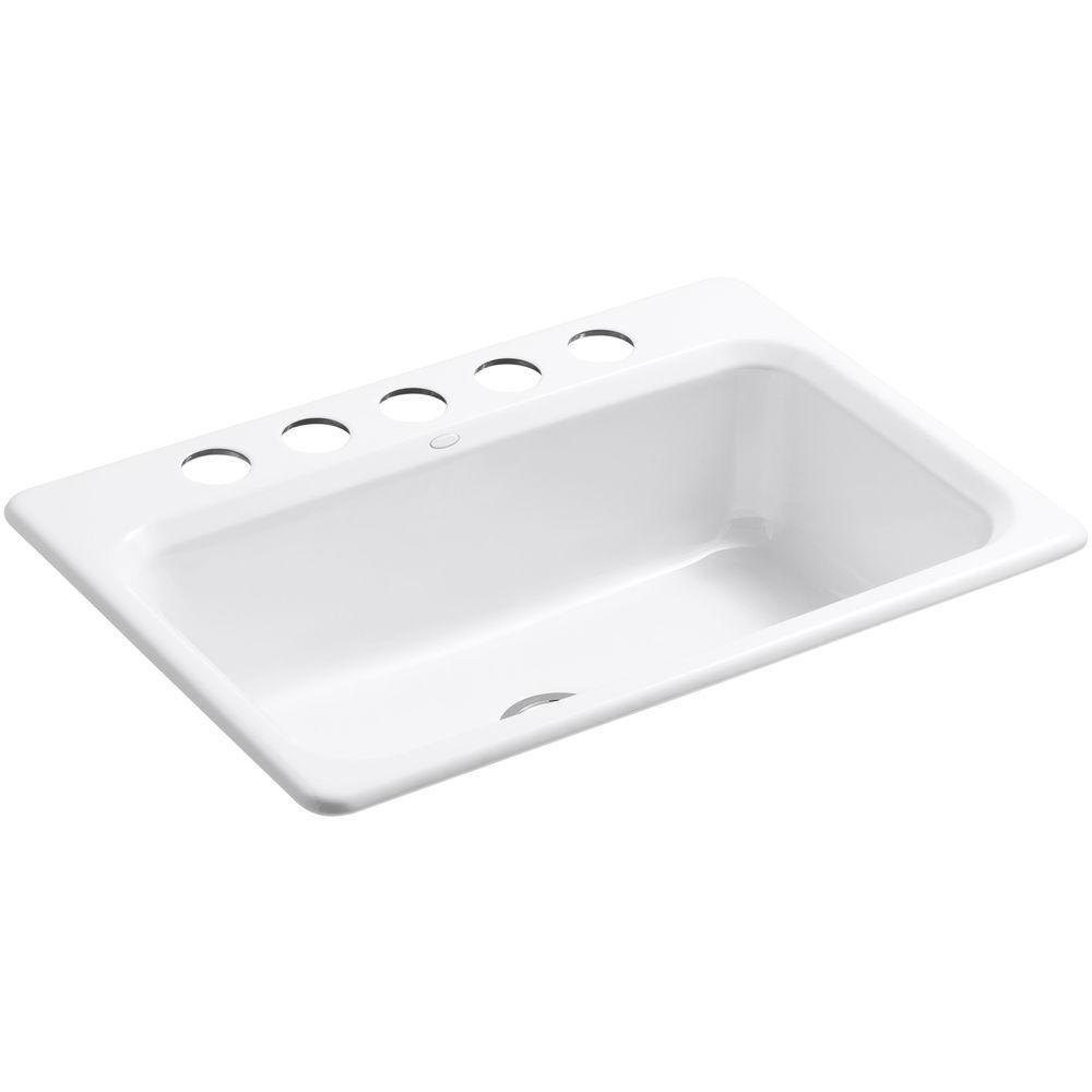 White Kohler Kitchen Undermount Sink Bakersfield