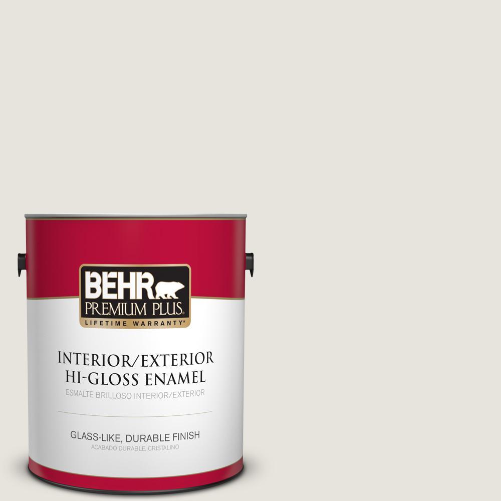 1 gal. #PPU24-13 White Pepper Hi-Gloss Enamel Interior/Exterior Paint