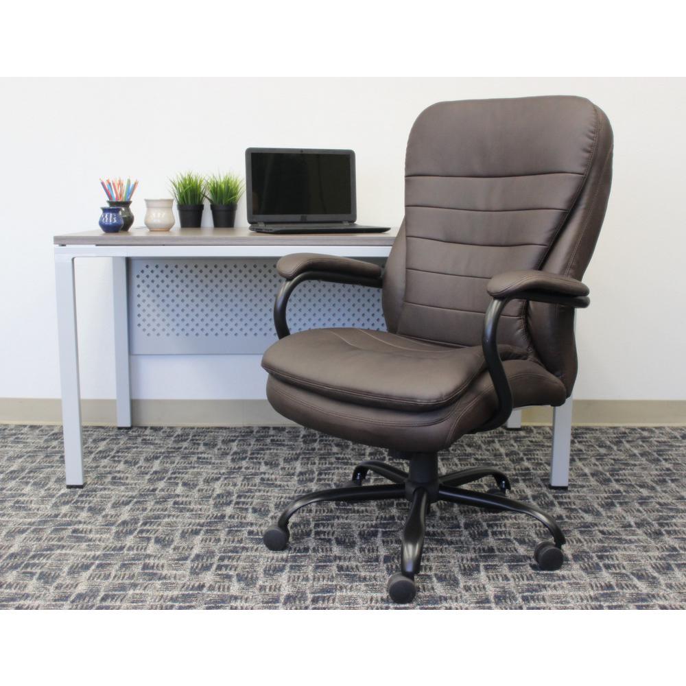 Boss Brown Heavy Duty Double Plush Chair