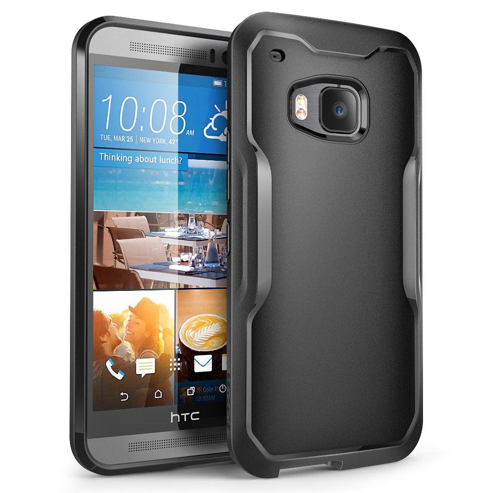 SUPCASE Unicorn Beetle Hybrid Bumper Case for HTC One M9, Black/Black