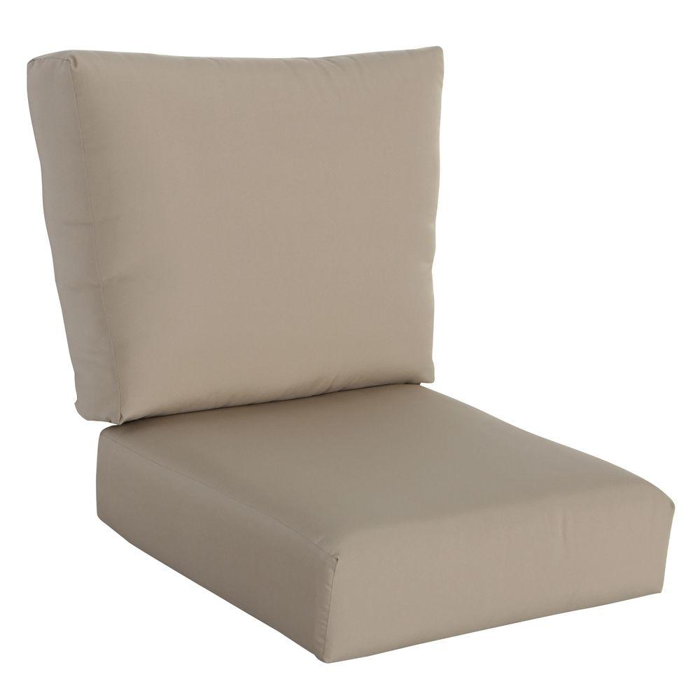 Hampton bay mill valley solid lounge chair outdoor for Garden furniture cushions