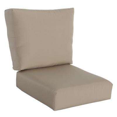 Mill Valley Solid Lounge Chair Outdoor Replacement Cushion Set Consisting of Seat Cushion and Back Cushion