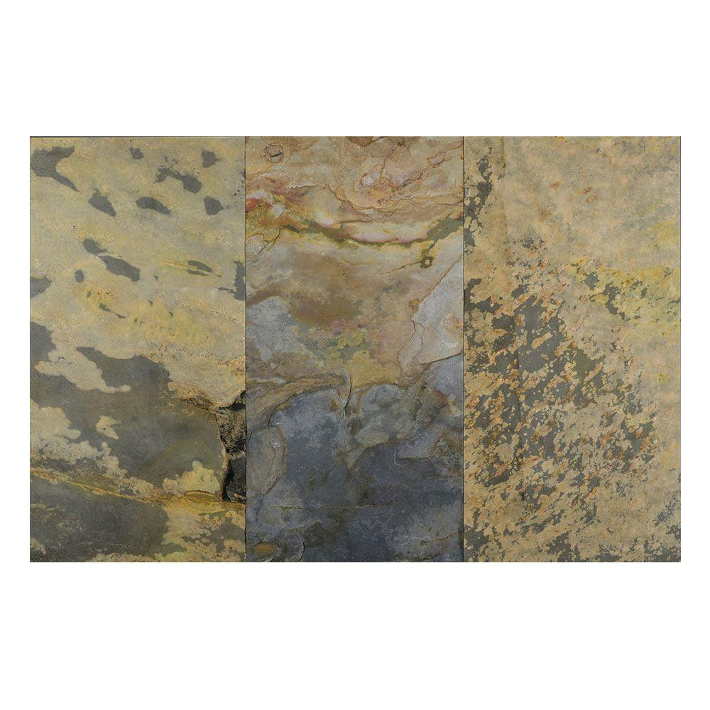 Indian Autumn 12 in. x 24 in. Slate Peel and Stick