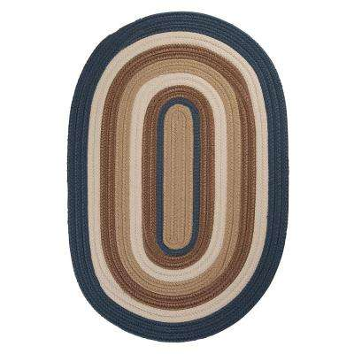 Frontier 2 ft. x 3 ft. Blue Braided Area Rug