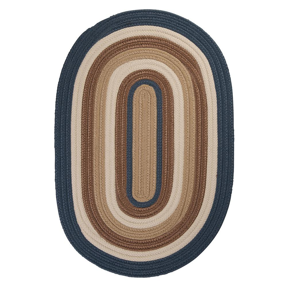 Frontier 12 ft. x 15 ft. Blue Braided Area Rug