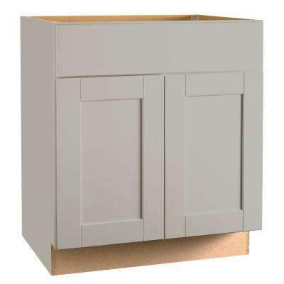 Shaker Assembled 30 x 34.5 x 21 in. Bathroom Vanity Base Cabinet in Dove Gray