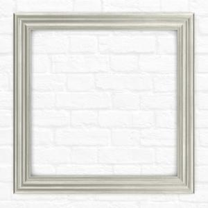 Delta 33 inch x 33 inch (L2) Square Mirror Frame in Vintage Nickel by Delta