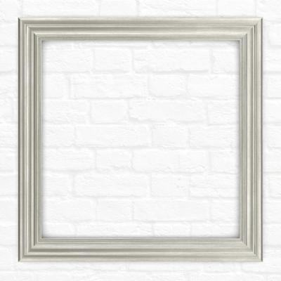 33 in. x 33 in. (L2) Square Mirror Frame in Vintage Nickel