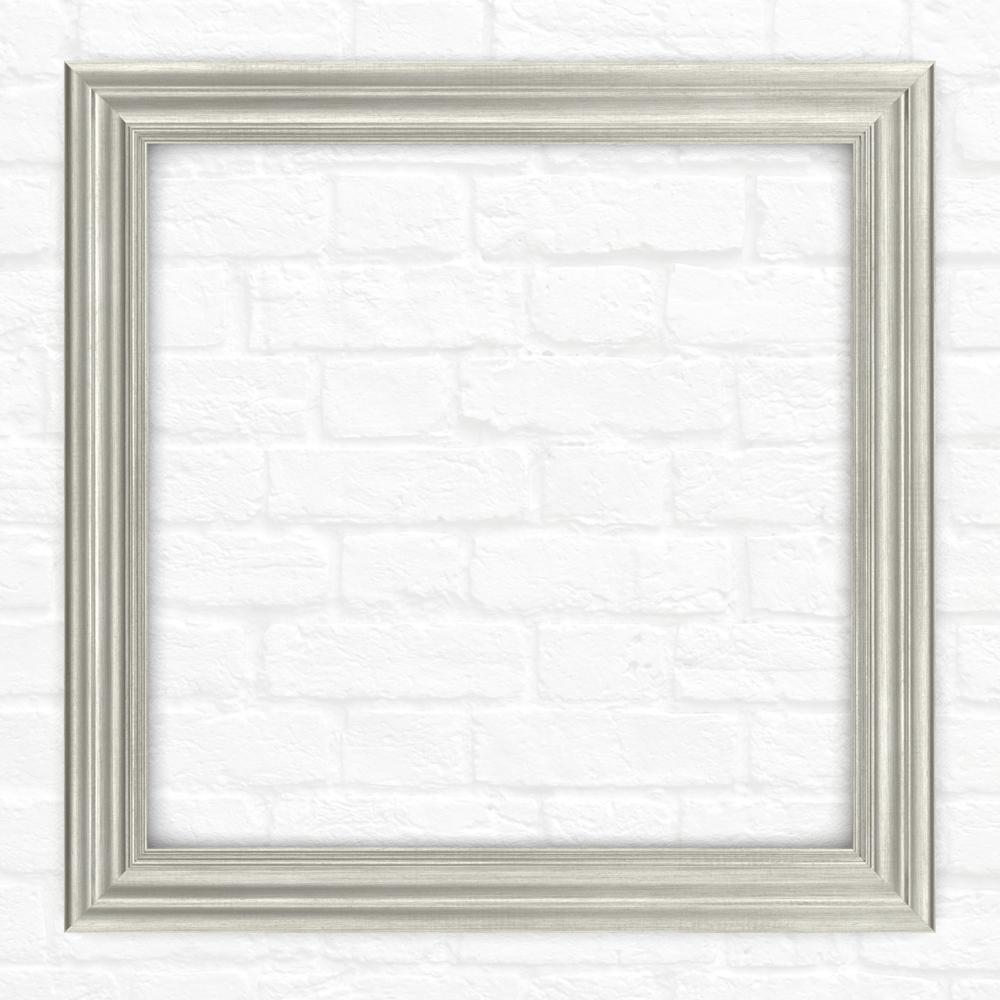 33 in. x 33 in. (L2) Square Mirror Frame in Vintage Nickel