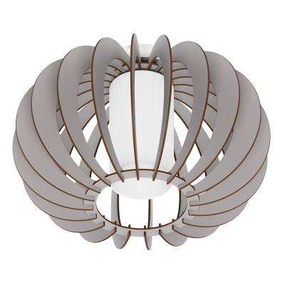 Stellato Colore 1-Light Matte Nickel Semi-Flushmount