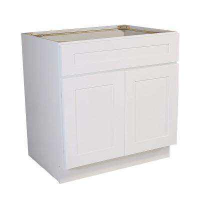 Brookings Ready to Assemble 36 x 34.5 x 24 in. Base Cabinet Style 2-Door Sink in White
