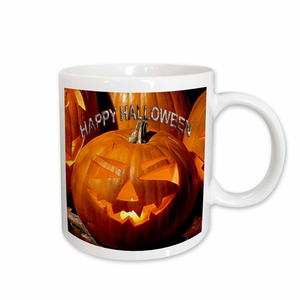 3drose 11 oz. white ceramic happy halloween mug-mug_2836_1 - the