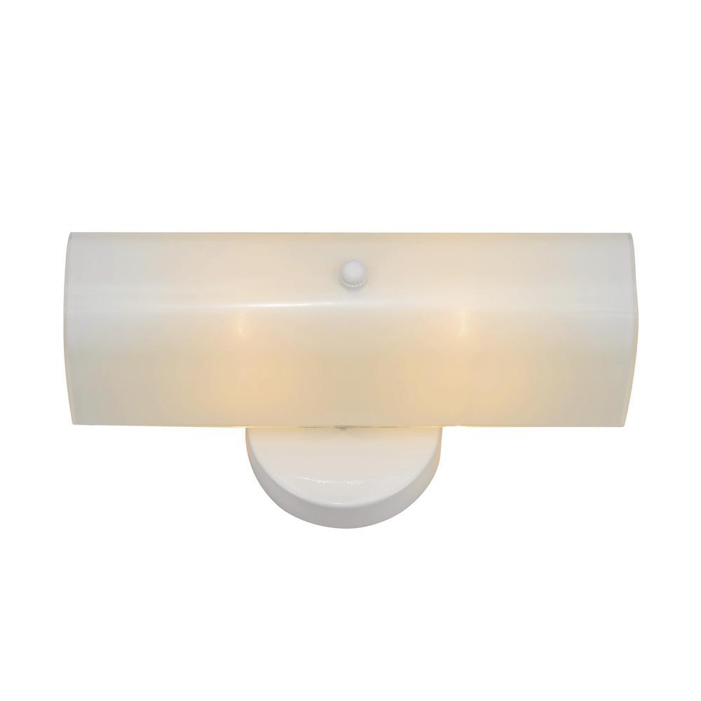 Bel Air Lighting 2 Light White Bath 15 In Vanity Light