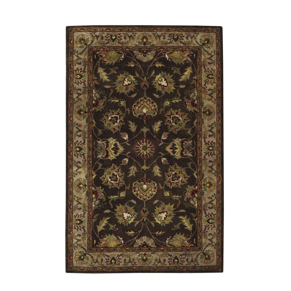 Home Decorators Collection Nobility Brown 3 ft. x 5 ft. Area Rug