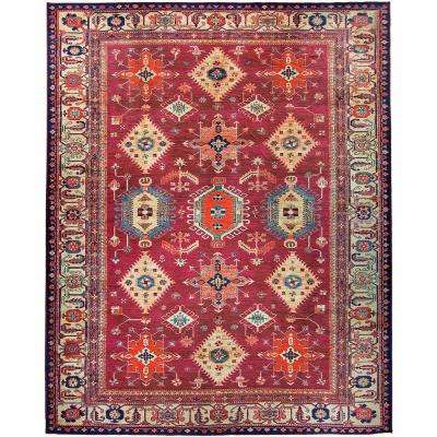 Washable Noor Ruby 8 Ft X 10 Stain Resistant Area Rug