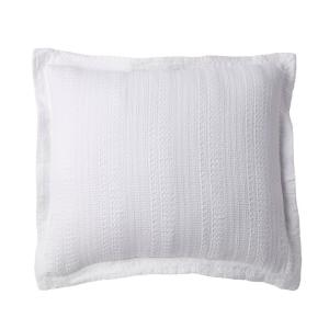 Interwoven White Solid Cotton Blend Euro Sham