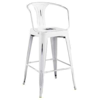 Promenade White Bar Stool